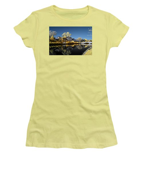 Reflections On Wesley Lake Women's T-Shirt (Athletic Fit)