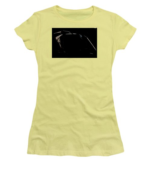 Women's T-Shirt (Junior Cut) featuring the photograph Reflective Helicopter Outline by Paul Job
