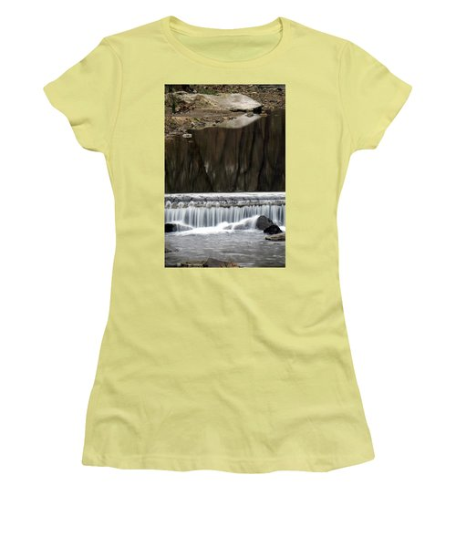 Reflexions And Water Fall Women's T-Shirt (Junior Cut) by Dorin Adrian Berbier