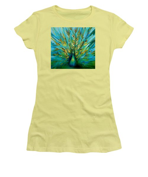 Regal Peacock Women's T-Shirt (Athletic Fit)