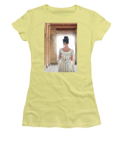 Regency Woman Under A Colonnade Women's T-Shirt (Junior Cut) by Lee Avison