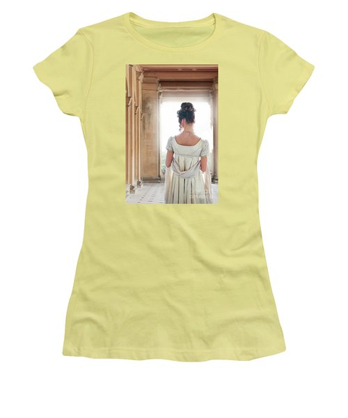 Regency Woman Under A Colonnade Women's T-Shirt (Athletic Fit)