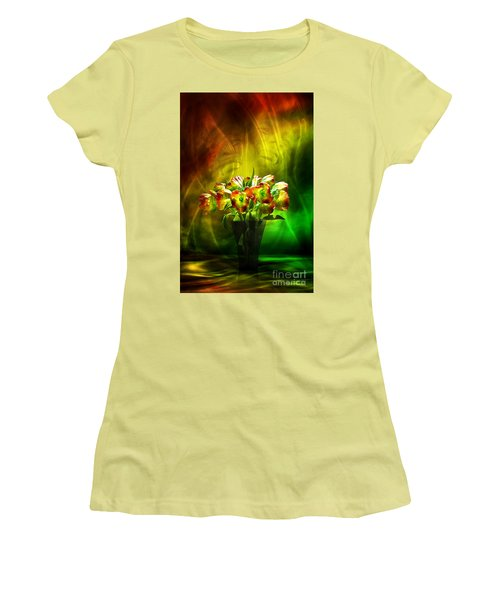 Reggae Tulips Women's T-Shirt (Athletic Fit)