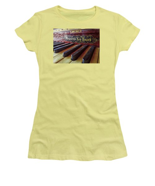 Women's T-Shirt (Junior Cut) featuring the photograph Registered Key Board by Linda Unger