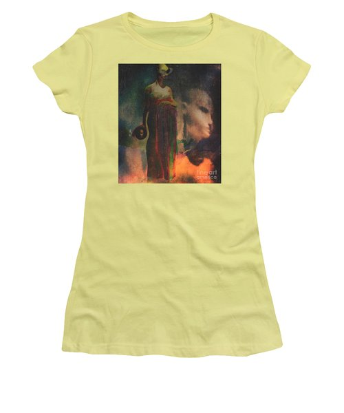 Women's T-Shirt (Junior Cut) featuring the digital art Reincarnation by Alexis Rotella