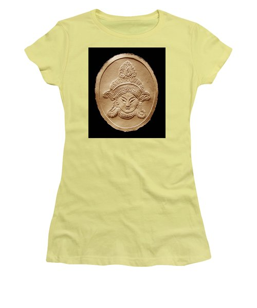 Relief Drawing Of Goddess Durga Devi  Women's T-Shirt (Athletic Fit)