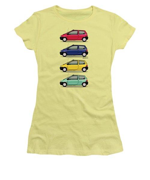 Renault Twingo 90s Colors Quartet Women's T-Shirt (Athletic Fit)