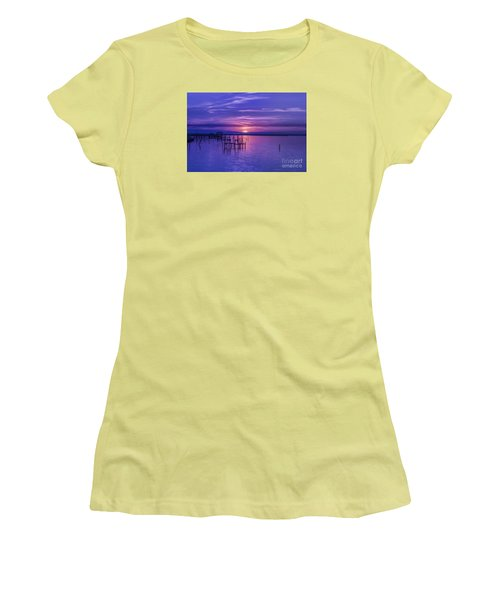 Rest Well World Sunset Women's T-Shirt (Athletic Fit)