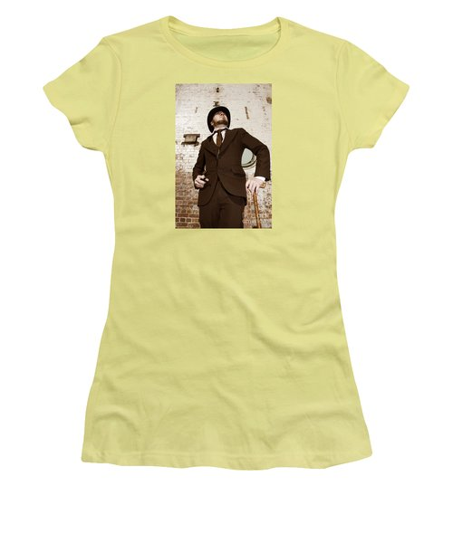 Women's T-Shirt (Athletic Fit) featuring the photograph Retro Nobel Man by Jorgo Photography - Wall Art Gallery