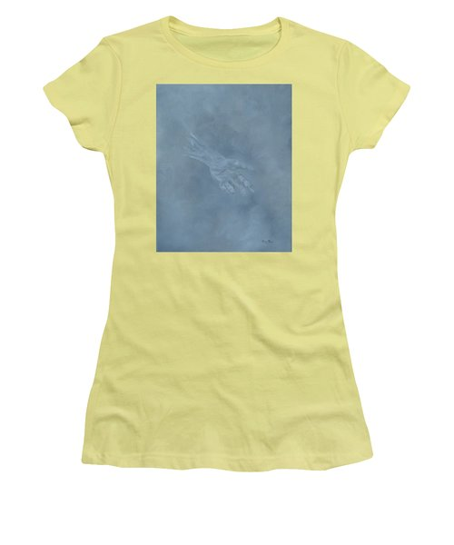 Women's T-Shirt (Athletic Fit) featuring the painting Return To Dust by Judith Rhue