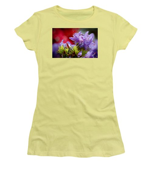 Rhododendron Bluebird Women's T-Shirt (Athletic Fit)