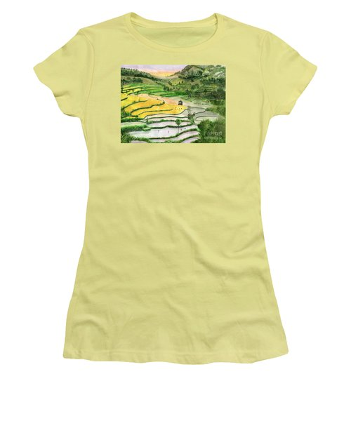 Ricefield Terrace II Women's T-Shirt (Junior Cut) by Melly Terpening