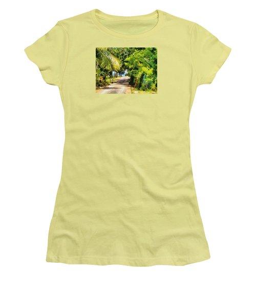 Rich Green Path Women's T-Shirt (Junior Cut) by Ashish Agarwal