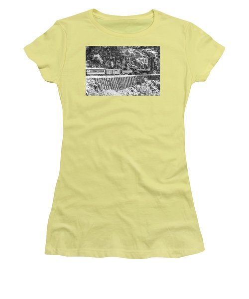 Women's T-Shirt (Athletic Fit) featuring the photograph Riding The Edge by Colleen Coccia