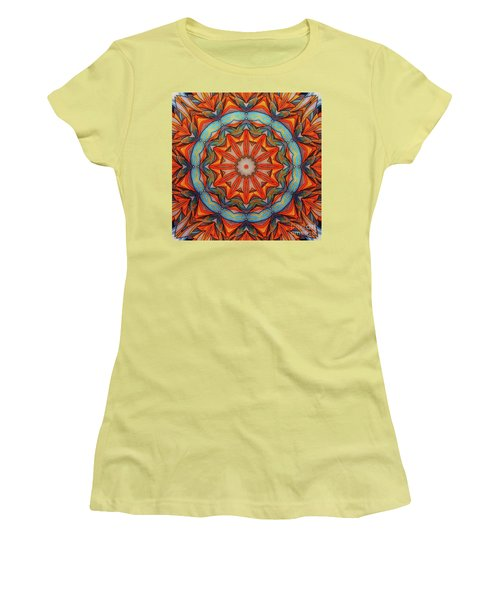 Women's T-Shirt (Junior Cut) featuring the drawing Ring Of Fire by Mo T
