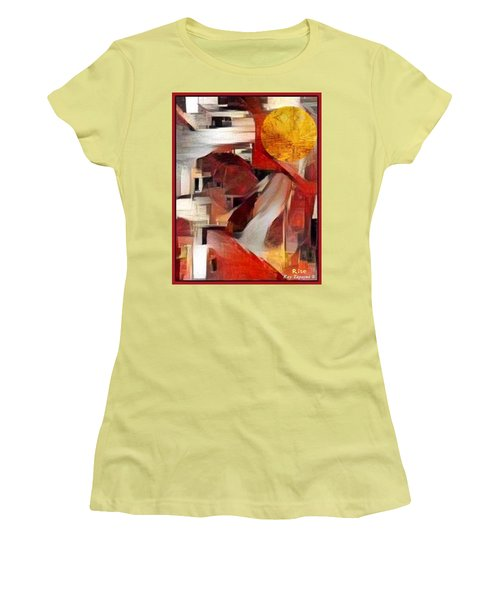 Women's T-Shirt (Junior Cut) featuring the mixed media Rise by Ray Tapajna