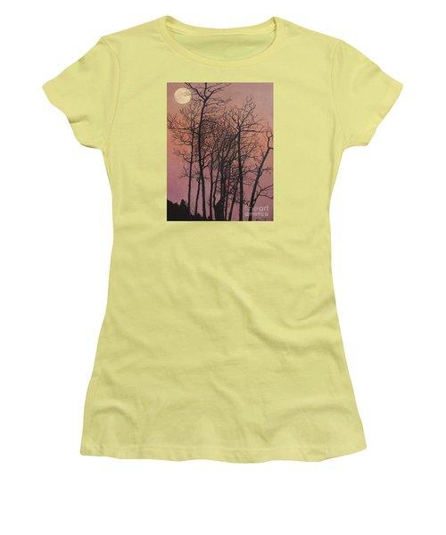 Rising Of The Moon  Women's T-Shirt (Junior Cut) by Barbara Barber