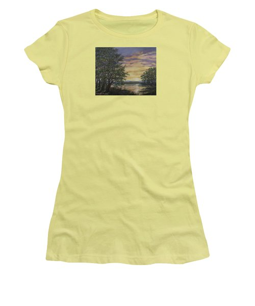 River Cove Sundown Women's T-Shirt (Athletic Fit)