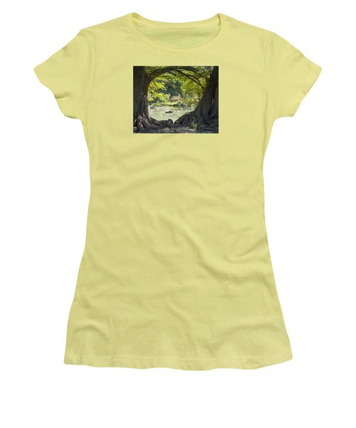 River Through Trees Women's T-Shirt (Athletic Fit)