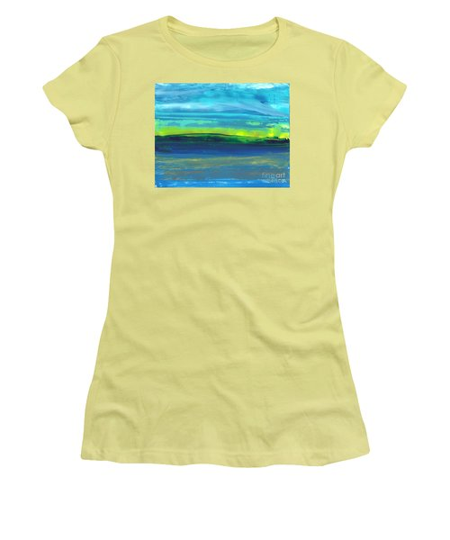 Riverbank Green Women's T-Shirt (Athletic Fit)