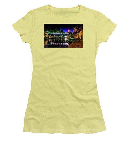 Riverwalk Bridge Women's T-Shirt (Junior Cut) by Mark Dunton
