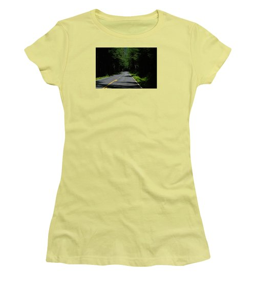 Road Leading To Where? Women's T-Shirt (Junior Cut) by John Rossman