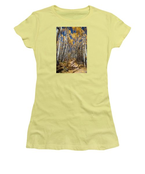 Road Through Aspens Women's T-Shirt (Athletic Fit)