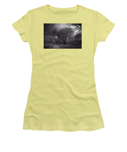 Road Through The Cottonwoods Women's T-Shirt (Athletic Fit)