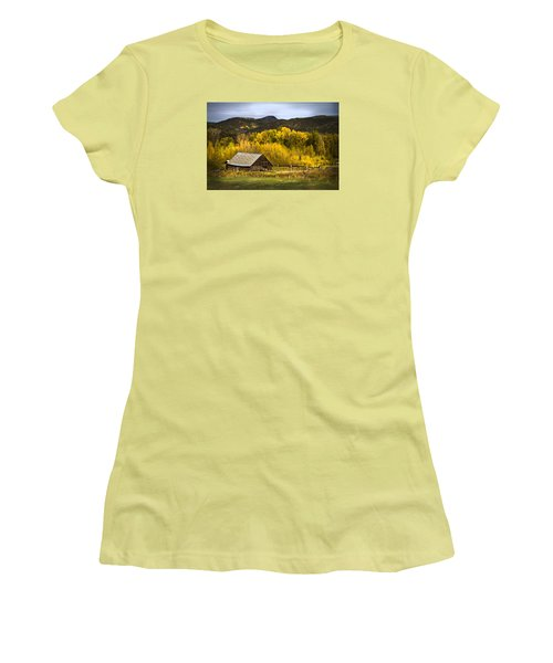 Road To Steamboat Lake Women's T-Shirt (Junior Cut) by John Hix