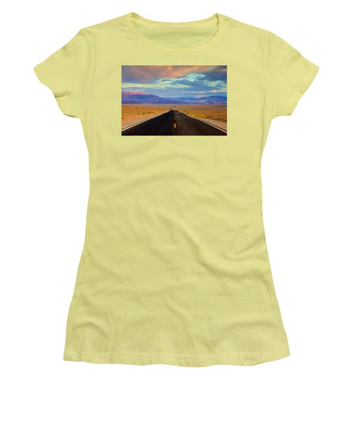 Women's T-Shirt (Junior Cut) featuring the photograph Road To The Dreams by Evgeny Vasenev