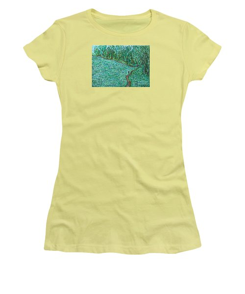 Roadside Green Women's T-Shirt (Junior Cut) by Anna Yurasovsky