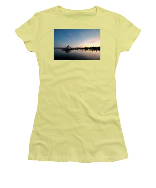 Roanoke Marshes Lighthouse At Dusk Women's T-Shirt (Athletic Fit)