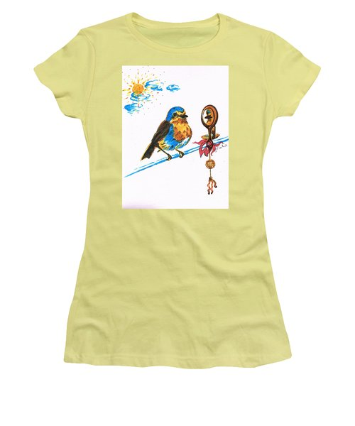 Robins Day Tasks Women's T-Shirt (Junior Cut) by Teresa White