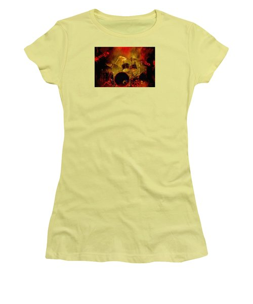 Rock And Roll Drum Solo Women's T-Shirt (Junior Cut) by Louis Ferreira