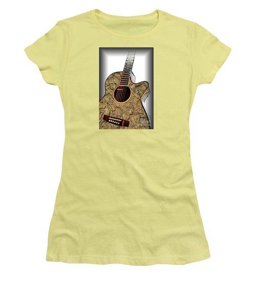 Rock Guitar 1 Women's T-Shirt (Junior Cut) by Walt Foegelle