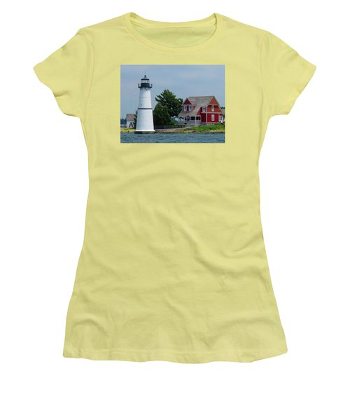 Rock Island Lighthouse July Women's T-Shirt (Athletic Fit)