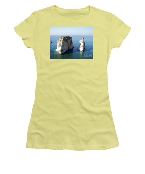 Rocks In Sea Women's T-Shirt (Athletic Fit)