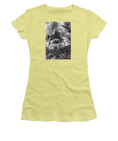 Rocky Roots Women's T-Shirt (Junior Cut) by Alan Raasch