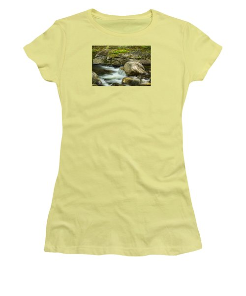 Women's T-Shirt (Junior Cut) featuring the photograph Rocky Stream by Alana Ranney