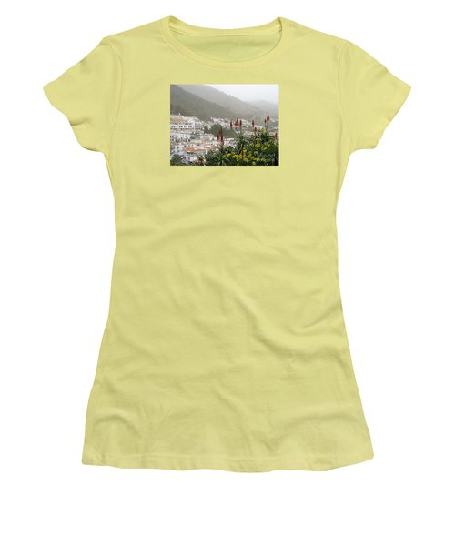 Women's T-Shirt (Junior Cut) featuring the photograph Rojo In The Pueblos Blancos by Suzanne Oesterling
