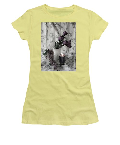 Women's T-Shirt (Junior Cut) featuring the photograph Romantic Thoughts by Sherry Hallemeier