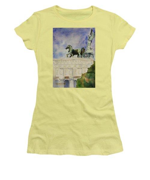 Rome Souvenir Women's T-Shirt (Junior Cut) by Geeta Biswas