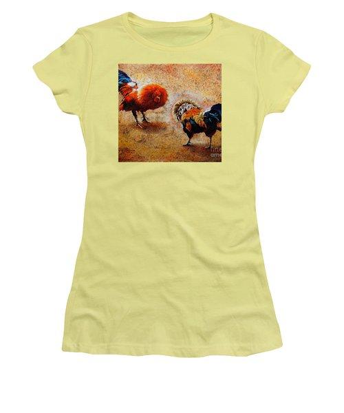 R O O S T E R S  .  S C E N E Women's T-Shirt (Athletic Fit)