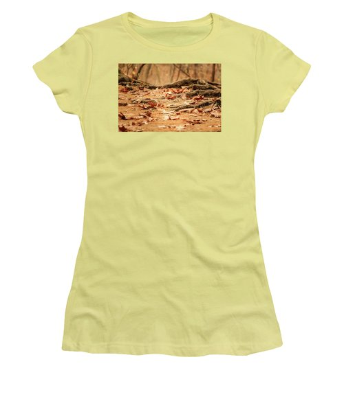 Roots Along The Path Women's T-Shirt (Junior Cut) by Joni Eskridge
