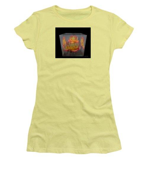 Rose Block Women's T-Shirt (Junior Cut) by Debra     Vatalaro