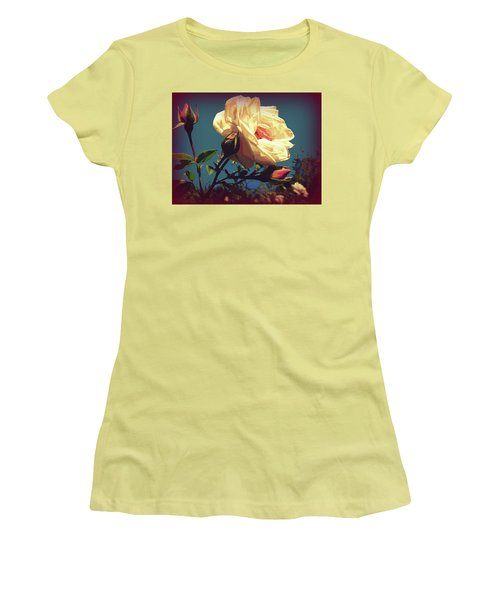 Rose Facing The Sun Women's T-Shirt (Athletic Fit)
