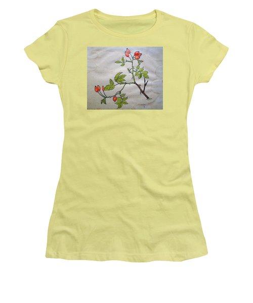 Rose Hip Women's T-Shirt (Junior Cut) by Thomas M Pikolin