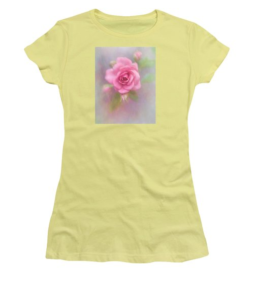 Rose Of Pink Women's T-Shirt (Junior Cut) by David and Carol Kelly