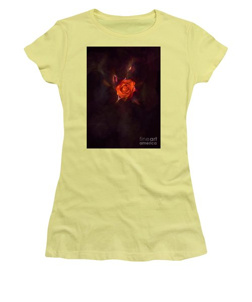 Rosebud Women's T-Shirt (Junior Cut) by Billie-Jo Miller