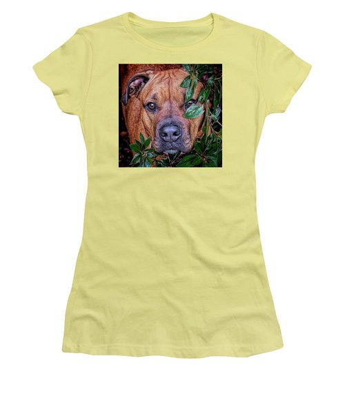 Women's T-Shirt (Athletic Fit) featuring the photograph Rosebud by Lewis Mann